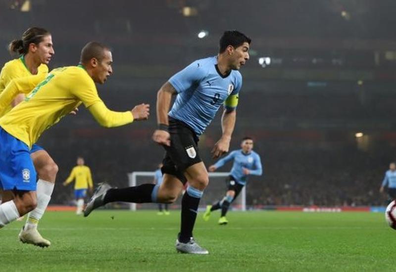 """Бразилия минимально обыграла Уругвай <span class=""""color_red"""">- ВИДЕО</span>"""