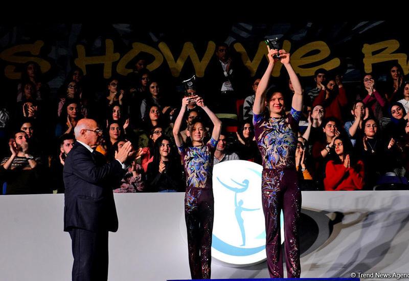 """В рамках Кубка мира по акробатической гимнастике в Баку прошло вручение AGF Trophy <span class=""""color_red"""">- ФОТО</span>"""