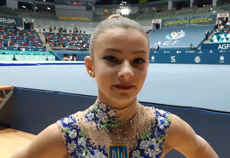 Украинская спортсменка: В Национальной арене гимнастики в Баку прекрасная атмосфера