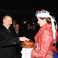 """Президент Ильхам Алиев прибыл с официальным визитом в Беларусь <span class=""""color_red"""">- ФОТО</span>"""