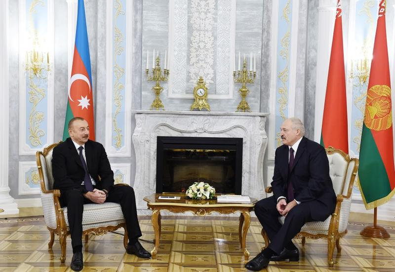 Президент Ильхам Алиев: В период независимости сотрудничество между Азербайджаном и Беларусью вышло на совершенно новый уровень