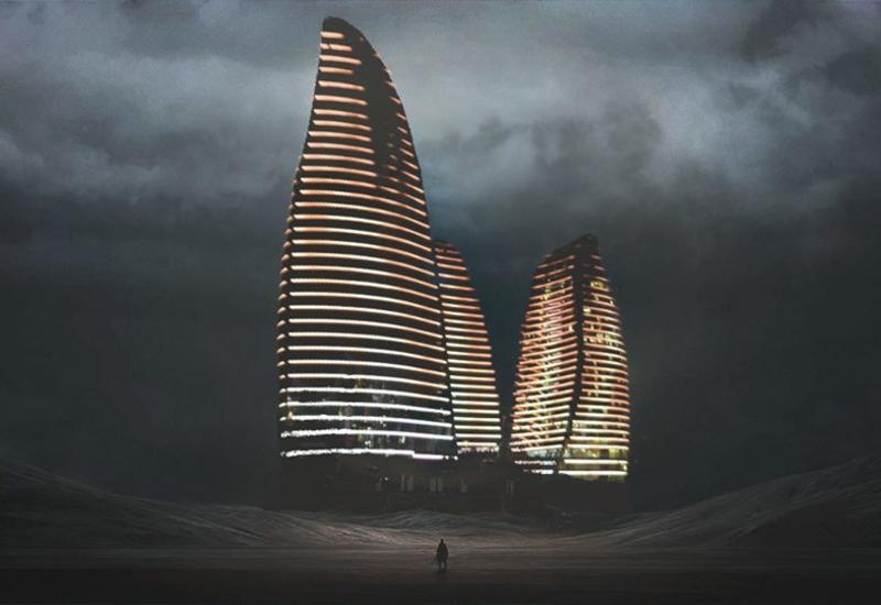 """Дизайнер представил азербайджанские достопримечательности в постапокалиптическом мире <span class=""""color_red"""">- ФОТО</span>"""