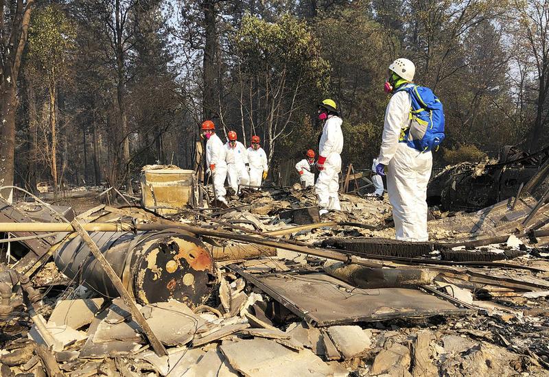 Число жертв лесных пожаров в Калифорнии возросло до 80