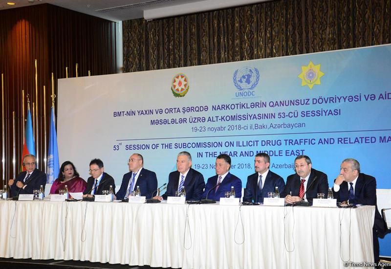 """В Баку проходит сессия ООН по незаконному обороту наркотиков на Ближнем и Среднем Востоке <span class=""""color_red"""">- ФОТО</span>"""