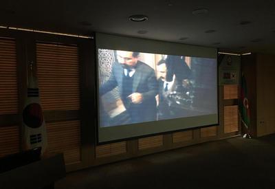"""Документальный фильм """"Командировка в вечность"""", созданный при поддержке Фонда Гейдара Алиева, продемонстрирован в парламенте Республики Корея <span class=""""color_red"""">- ФОТО</span>"""