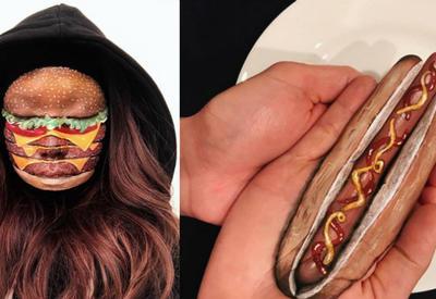 Канадская визажистка рисует на женских лицах и теле бургеры, роллы и пиццу