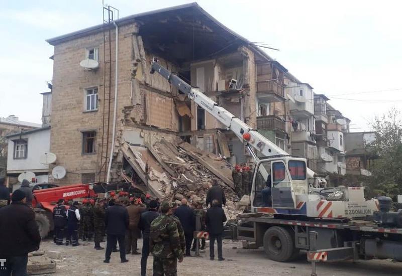 В связи с взрывом в жилом доме в Гяндже возбуждено уголовное дело