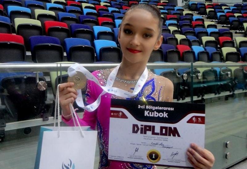 Азербайджанская гимнастка: Я очень рада, что завоевала медаль Межрегионального кубка по художественной гимнастике