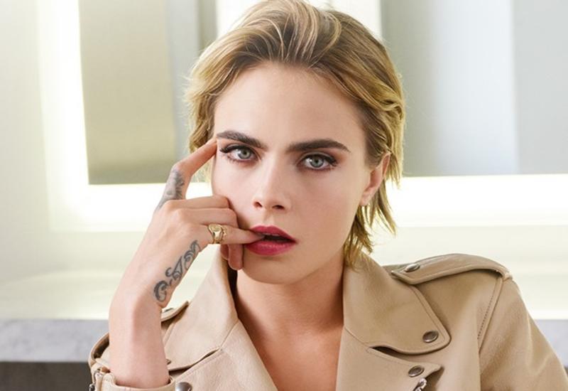 Кара Делевинь стала лицом рекламной кампании новой помады Dior