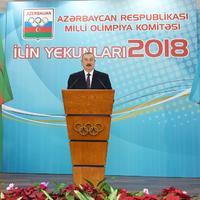 """Президент Ильхам Алиев принял участие в церемонии, посвященной спортивным итогам 2018 года <span class=""""color_red"""">- ФОТО</span>"""
