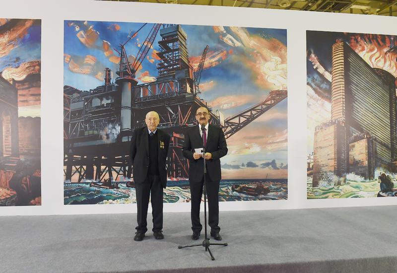 """В Бакинском Экспо-центре открылась выставка в связи с 90-летним юбилеем всемирно известного художника Таира Салахова <span class=""""color_red"""">- ФОТО</span>"""