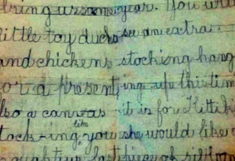 Обнаружено письмо девочки Санте 120-летней давности