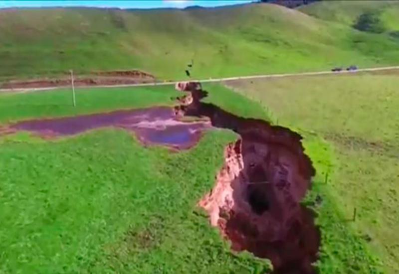 """Огромная трещина разорвала землю в Новой Зеландии <span class=""""color_red"""">- ВИДЕО</span>"""