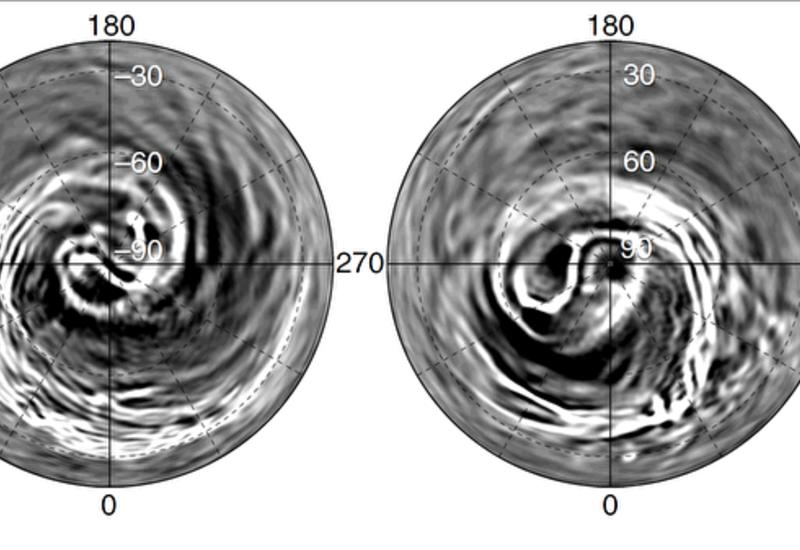 Астрономы нашли загадочную спираль в атмосфере Венеры
