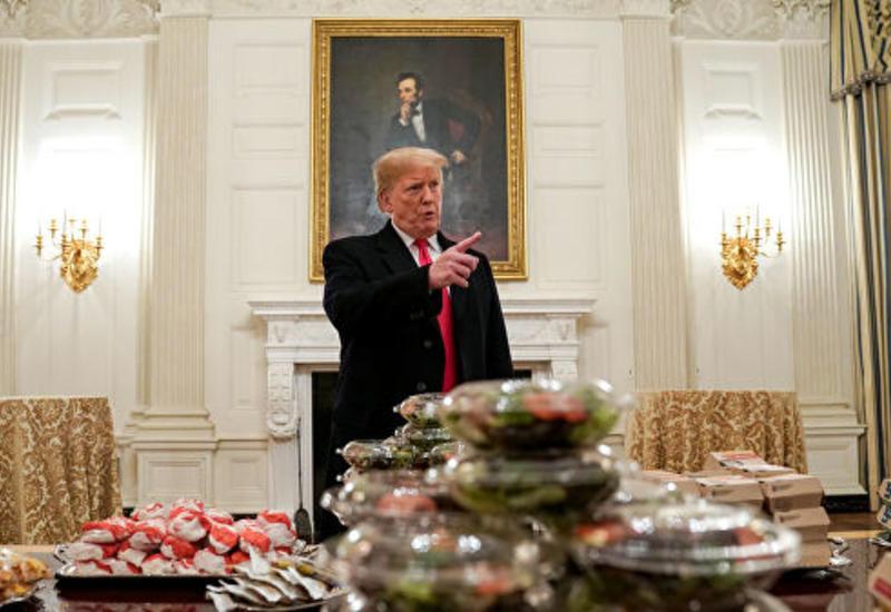 Трамп о спортсменах, съевших тысячу гамбургеров в Белом доме