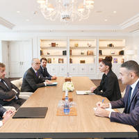 """Первый вице-президент Мехрибан Алиева встретилась с Николя Саркози <span class=""""color_red"""">- ФОТО</span>"""