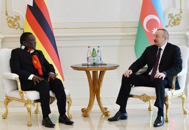 Президент Ильхам Алиев: Визит Президента Зимбабве в Азербайджан создаст возможности для укрепления нашего партнерства