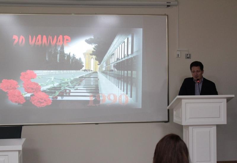 """В Бакинском филиале Сеченовского университета почтили память жертв трагедии 20 Января <span class=""""color_red"""">- ФОТО</span>"""
