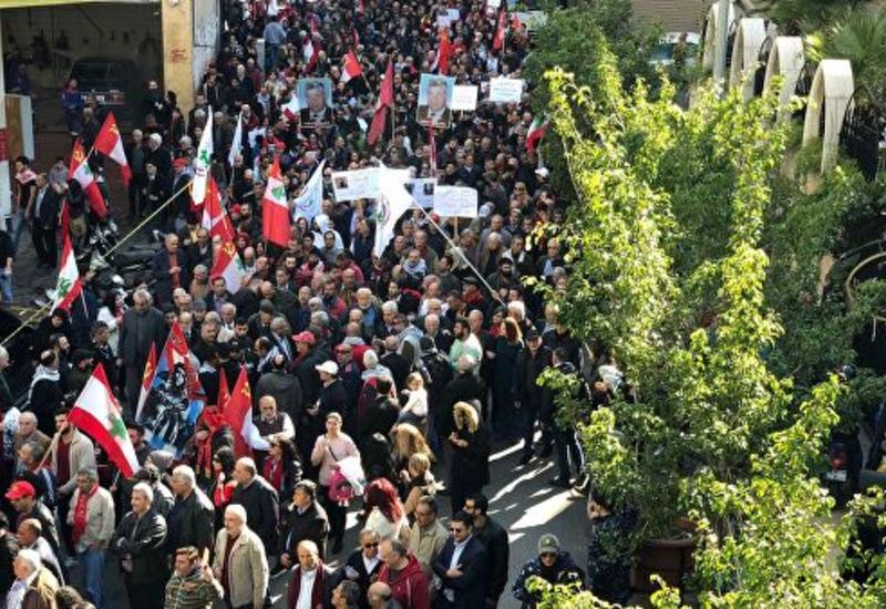 В Бейруте прошла многотысячная демонстрация