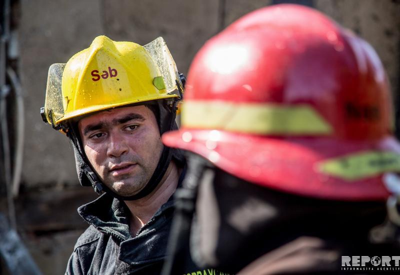 Пожар в жилом доме в Агстафе, есть пострадавшие