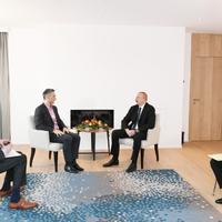 """Президент Ильхам Алиев встретился с вице-президентом Microsoft и главой """"Signify"""" <span class=""""color_red"""">- ФОТО</span>"""