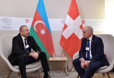 """Президент Ильхам Алиев: Мы заинтересованы в привлечении большего количества швейцарских компаний в экономическое развитие Азербайджана в качестве инвесторов <span class=""""color_red"""">- ФОТО</span>"""