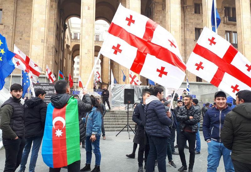 Массовая акция азербайджанцев и грузин в Тбилиси