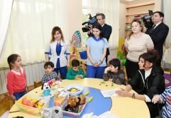Первый вице-президент Мехрибан Алиева посетила Детский психоневрологический центр в Баку - ФОТО