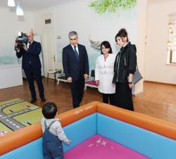 Первый вице-президент Мехрибан Алиева посетила ясли №1 в Баку - ФОТО