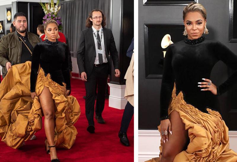 """Американская певица на красной дорожке «Grammy 2019» в платье от азербайджанского дизайнера <span class=""""color_red"""">- ФОТО</span>"""