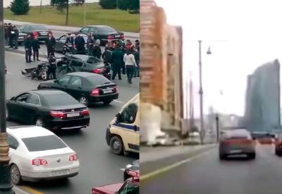 """За минуту до страшного ДТП в Баку <span class=""""color_red"""">- ВИДЕО</span>"""
