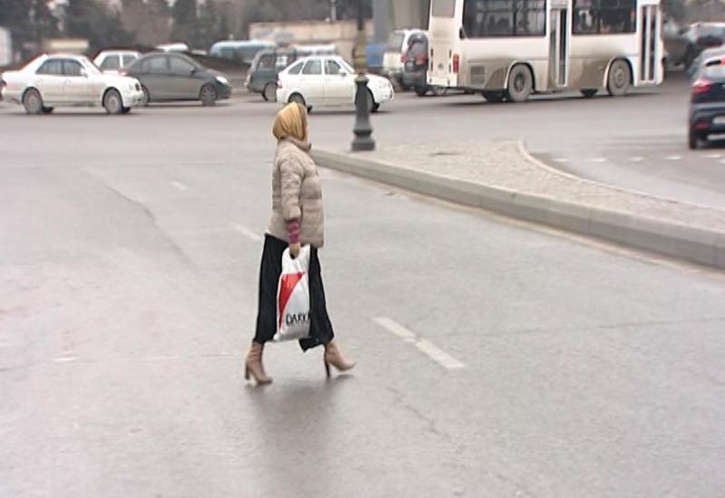 """Дорожная полиция Баку предупредила пешеходов <span class=""""color_red"""">- ФОТО</span>"""