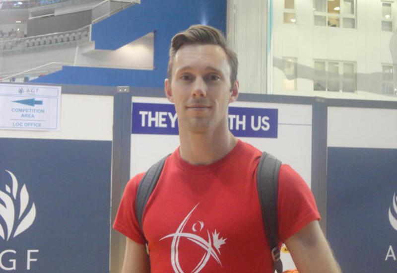 """В Баку потрясающая гимнастическая арена <span class=""""color_red"""">- мировой рекордсмен по прыжкам на батуте</span>"""