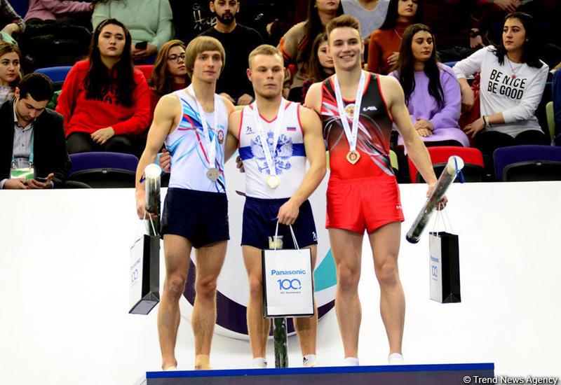 """В Баку прошла церемония награждения победителей по прыжкам на акробатической дорожке в рамках Кубка мира <span class=""""color_red"""">- ФОТО</span>"""