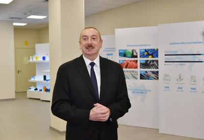 Президент Ильхам Алиев: Наша основная цель – увеличить ненефтяной экспорт, открыть новые рабочие места и добиться создания в Азербайджане предприятий с современными технологиями