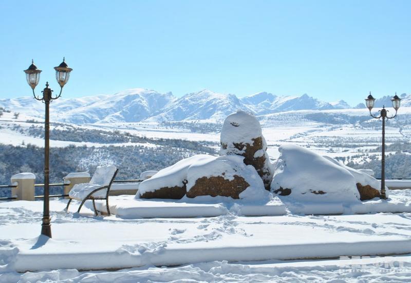 В Азербайджане выпало 19 см снега