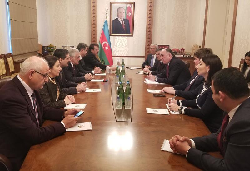 "Эльмар Мамедъяров на переговорах с турецкими депутатами <span class=""color_red"">- ФОТО</span>"