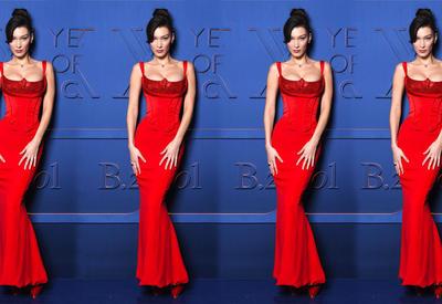 Фото дня - Белла Хадид в красном платье произвела фурор