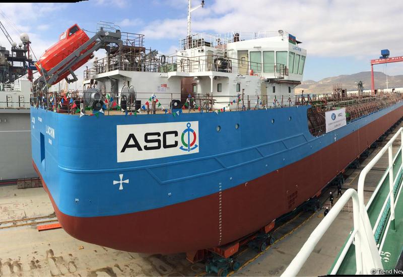 "В Азербайджане спустили на воду новый танкер <span class=""color_red"">- ФОТО</span>"
