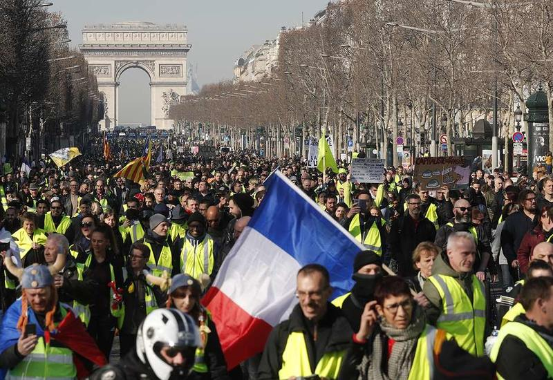 """Во Франции пройдет 15-я волна протестов """"желтых жилетов"""""""