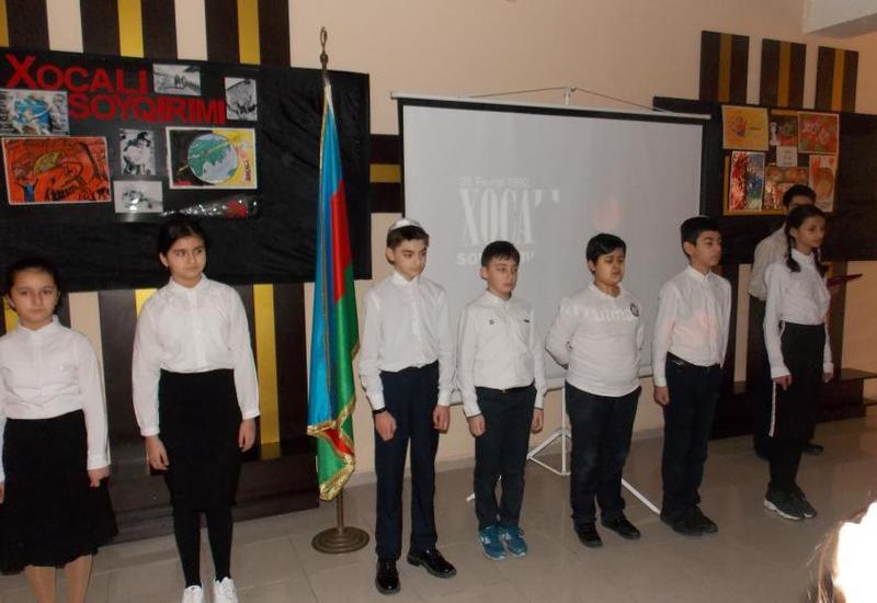 В бакинской еврейской школе почтили память жертв Ходжалы