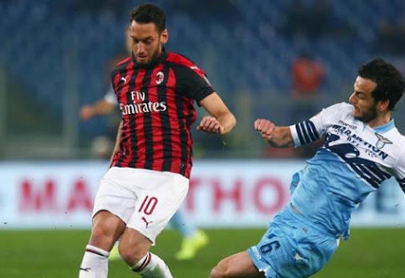 «Лацио» и «Милан» не выявили победителя в первом матче 1/2 финала Кубка Италии