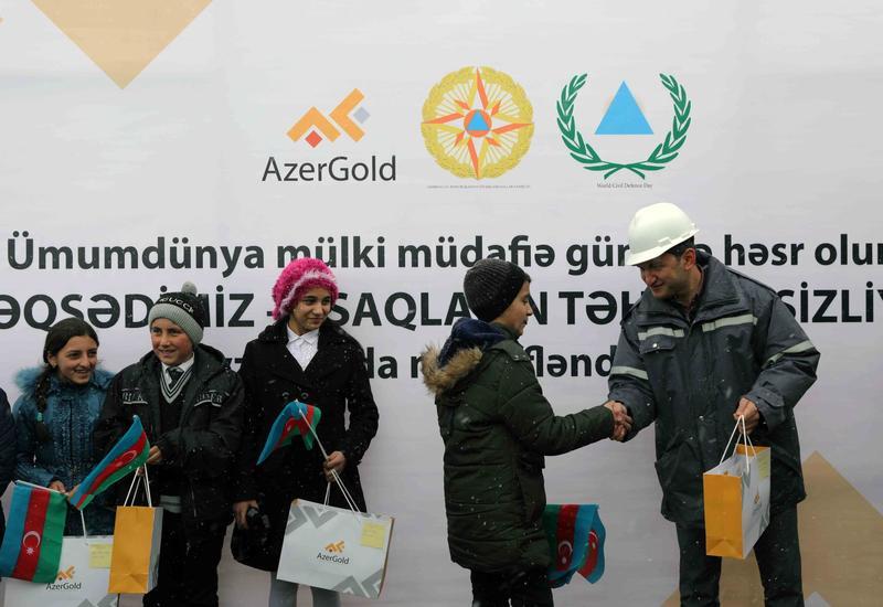 """ЗАО """"AzerGold"""" организовало просветительское мероприятие  в связи с Днем гражданской обороны"""
