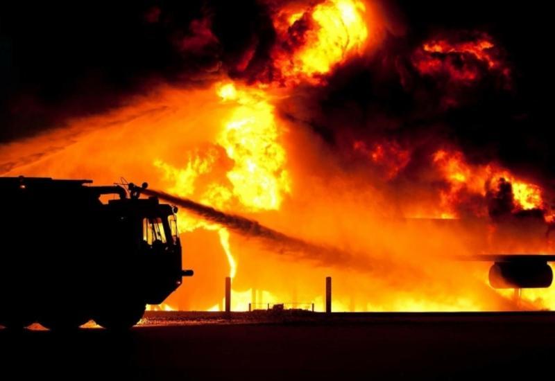Кадры последствий крупного пожара в Дагестане