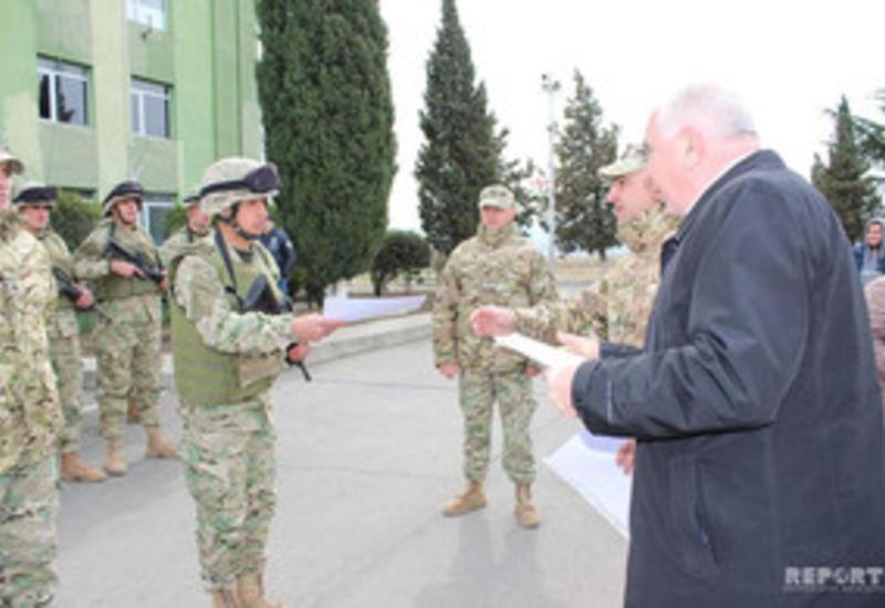 Военнослужащие-азербайджанцы удостоены сертификатов в ВС Грузии