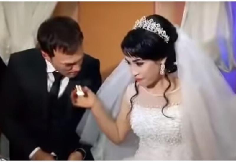 Безобидная шутка невесты обернулась пощечиной от жениха