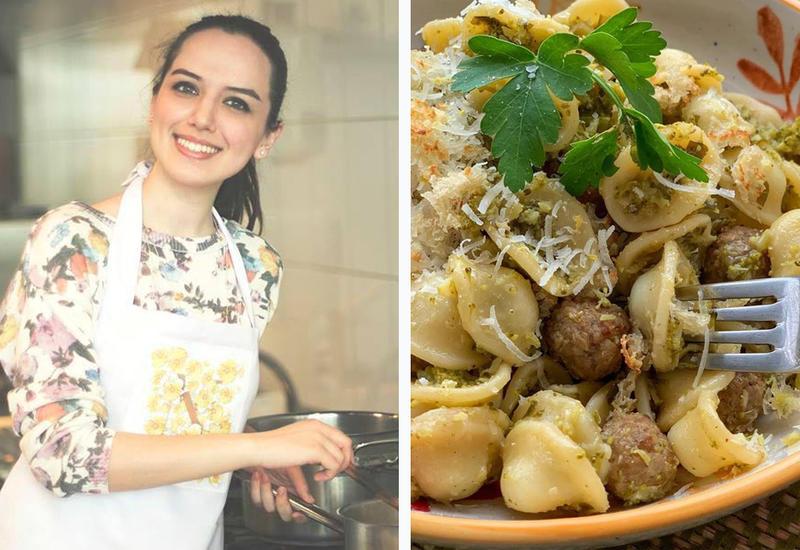 Ореккьетте с соусом из брокколи и мясными фрикадельками - Рецепт от Или Мамедовой