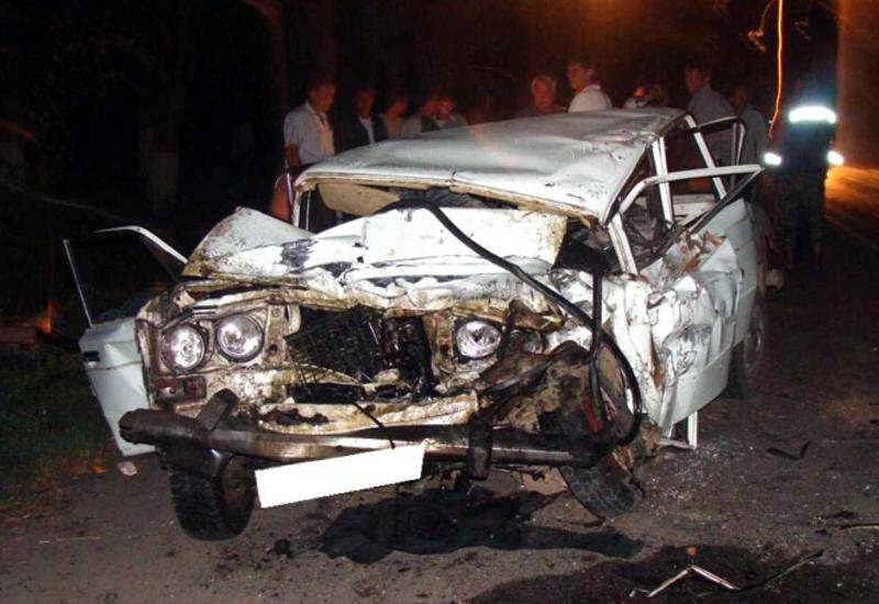 Страшная авария в Сумгайыте, есть погибший и пострадавшие