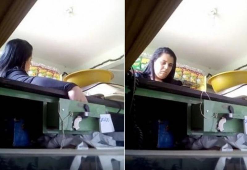 Жадная воровка попалась в мышеловку, оставленную владельцем магазина в кассе