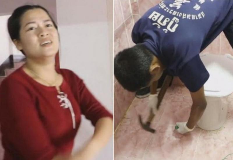 Питон напал на девушку в неожиданном месте